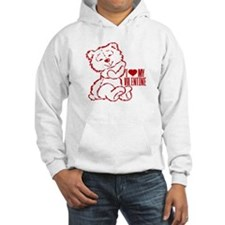 I Heart My Valentine! Red Teddy Bear Hoodie