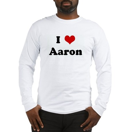 I Love Aaron Long Sleeve T-Shirt