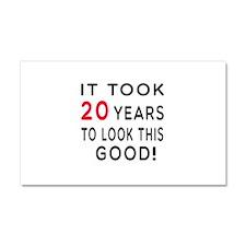 It Took 20 Birthday Designs Car Magnet 20 x 12