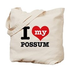 I love my possum Tote Bag