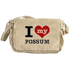 I love my possum Messenger Bag