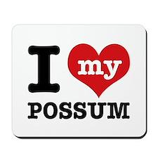 I love my possum Mousepad