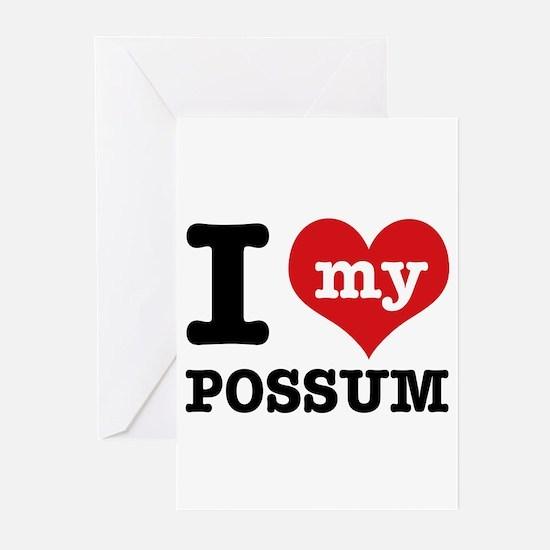 I love my possum Greeting Cards (Pk of 10)