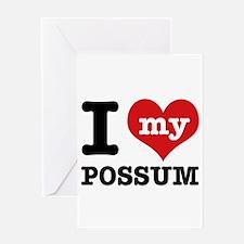 I love my possum Greeting Card