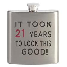 It Took 21 Birthday Designs Flask