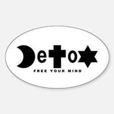 Religion DeToX Oval Decal