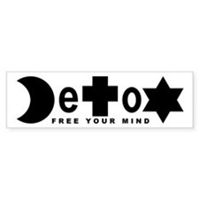Religion DeToX Bumper Car Sticker