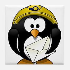 Mail Man Penguin Tile Coaster