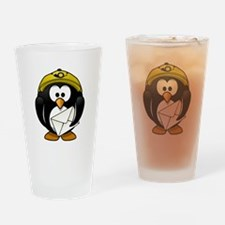 Mail Man Penguin Drinking Glass