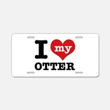 I love my OTTER Aluminum License Plate