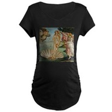 Birth Of Venus (by Sandro Botiicelli) Maternity T-