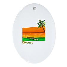 Key West, Florida Oval Ornament