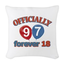 Officially 97 forever 18 Woven Throw Pillow