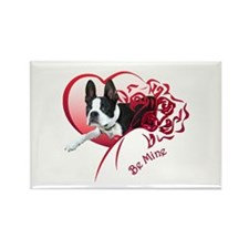 Valentine Boston Terrier Rectangle Magnet