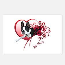 Valentine Boston Terrier Postcards (Package of 8)