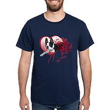 Valentine Boston Terrier T-Shirt