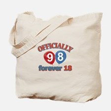 Officially 98 forever 18 Tote Bag
