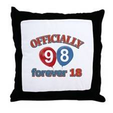 Officially 98 forever 18 Throw Pillow