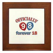 Officially 98 forever 18 Framed Tile