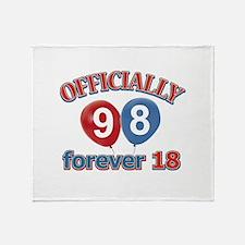 Officially 98 forever 18 Throw Blanket