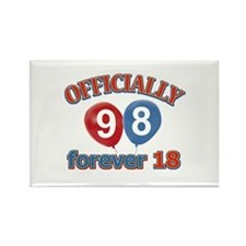 Officially 98 forever 18 Rectangle Magnet