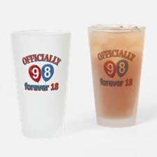 Officially 98 forever 18 Drinking Glass