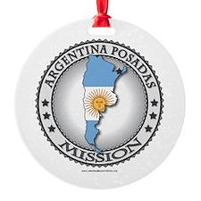 Argentina Posadas LDS Mission Flag Cutout Map Orna