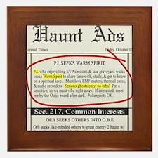 Haunt ads Framed Tile
