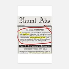 Haunt ads Rectangle Decal