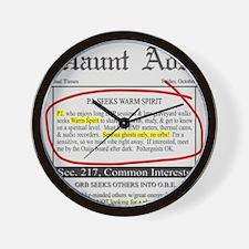 Haunt ads Wall Clock