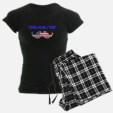 Custom American Flag Mustache Pajamas