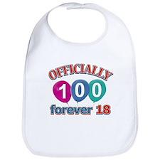 Officially 100 forever 18 Bib