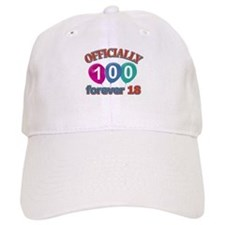 Officially 100 forever 18 Baseball Cap