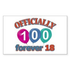 Officially 100 forever 18 Decal