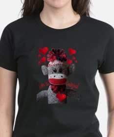 Love is Contagious Sock Monkey Valentine Tee
