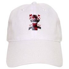 Love is Contagious Sock Monkey Valentine Baseball Cap