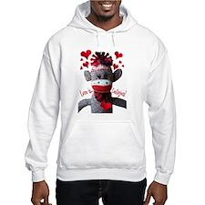 Love is Contagious Sock Monkey Valentine Hoodie
