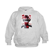 Love is Contagious Sock Monkey Valentine Hoodie