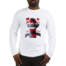Love is Contagious Sock Monkey Valentine Long Slee