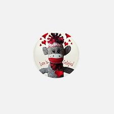 Love is Contagious Sock Monkey Valentine Mini Butt