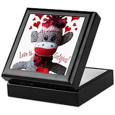 Love is Contagious Sock Monkey Valentine Keepsake
