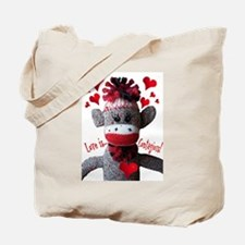 Love is Contagious Sock Monkey Valentine Tote Bag