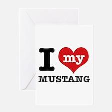 I love my MUSTANG Greeting Card
