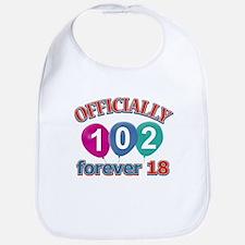 Officially 102 forever 18 Bib