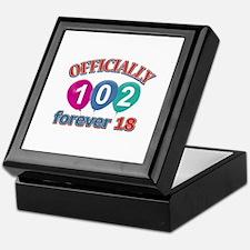 Officially 102 forever 18 Keepsake Box