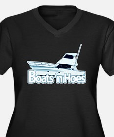 boats1.png Women's Plus Size V-Neck Dark T-Shirt