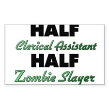 Half Clerical Assistant Half Zombie Slayer Decal