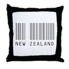 NEW ZEALAND Barcode Throw Pillow