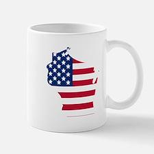 Wisconsin American Flag Mugs