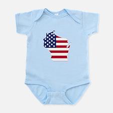 Wisconsin American Flag Body Suit